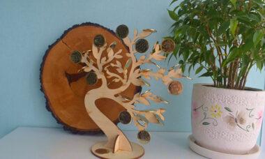 New!!! Handmade by 5ksana! Money tree of coins «BITCOIN» SALE!!!!